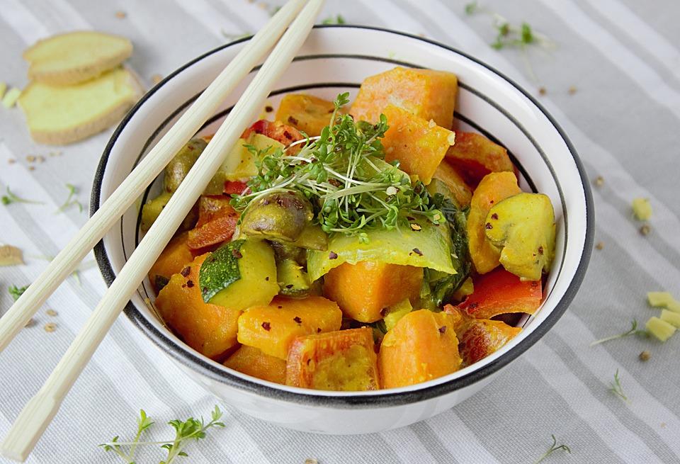 Poulet et petits légumes façon thaï